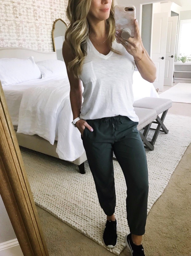 Zella crop joggers and made well tank