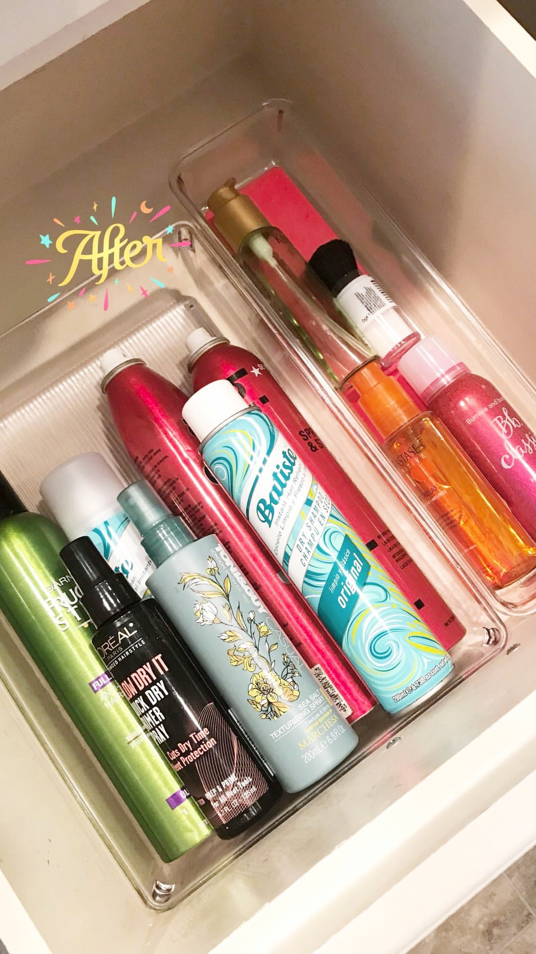 GSD clean bathroom drawers