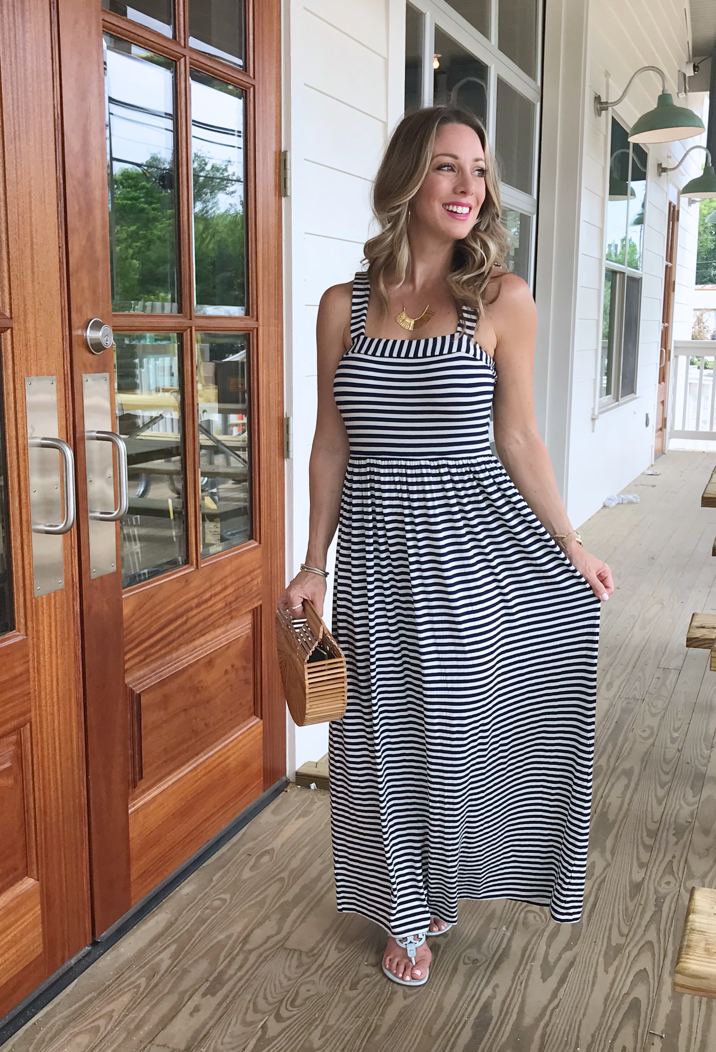 Spring & Summer outfit - striped maxi dress