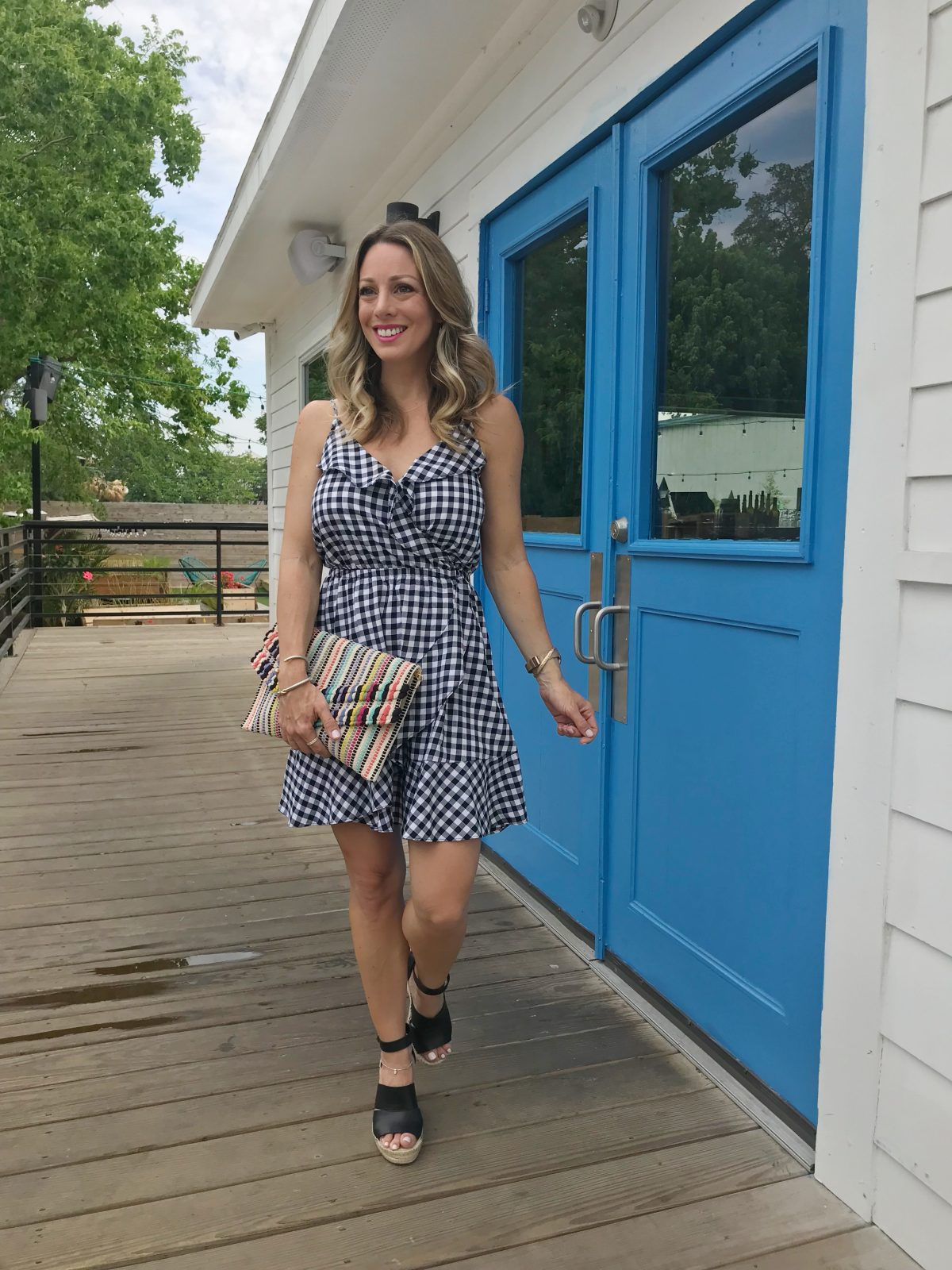 Spring and Summer fashion - gingham dress