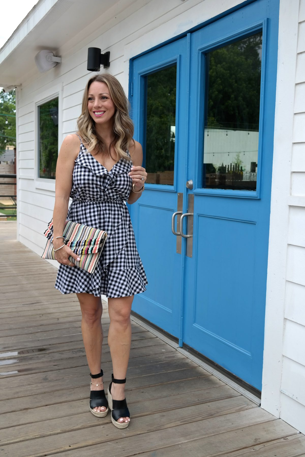 Spring and Summer fashion - gingham sundress