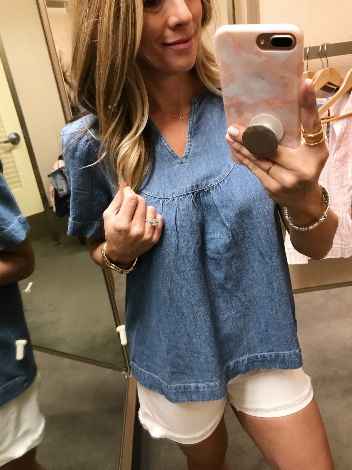 Spring fashion - made well denim top