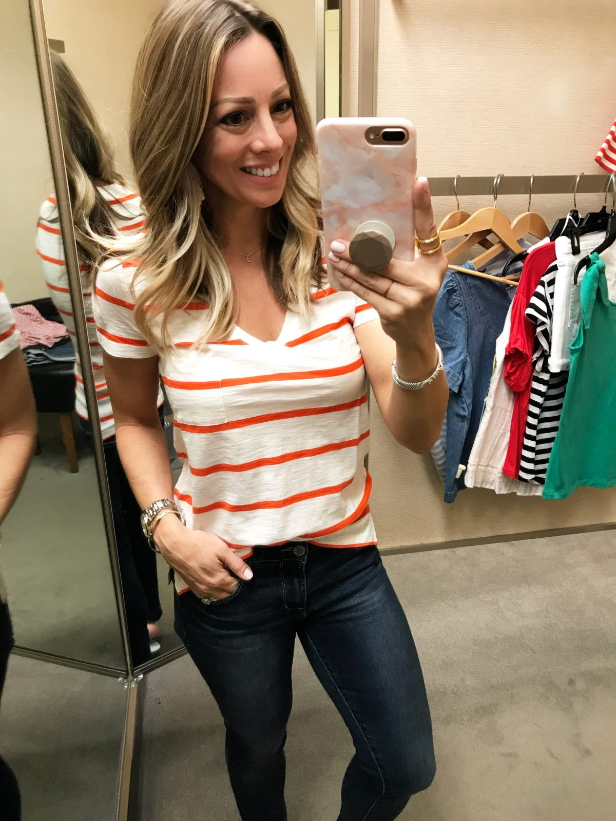 Spring fashion - striped Madewell tee