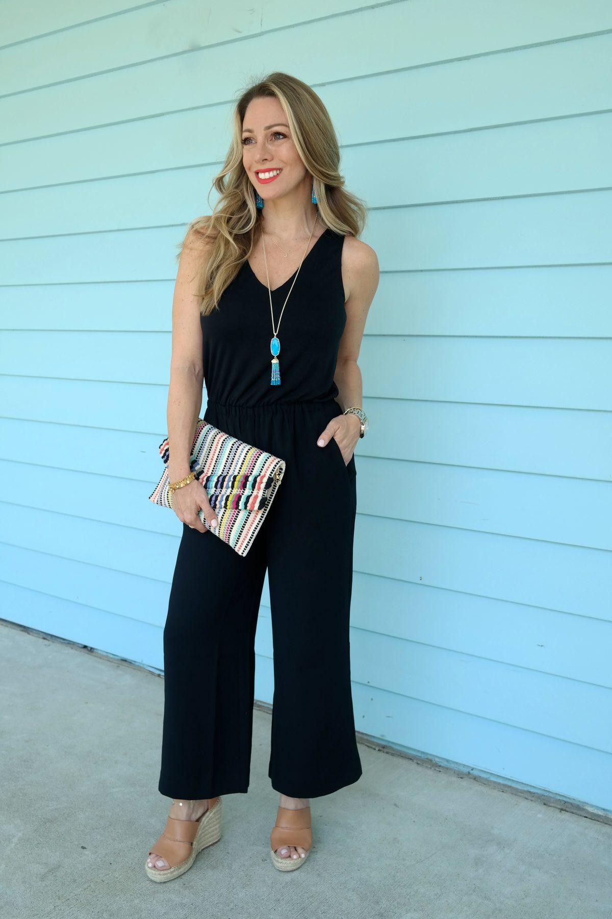 Spring outfit - Loft black jumpsuit