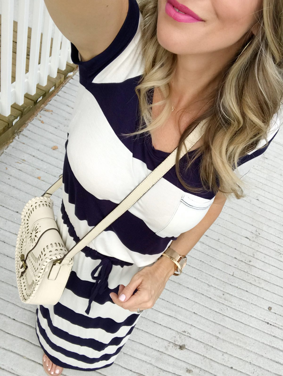 Spring outfit - striped maxi dress