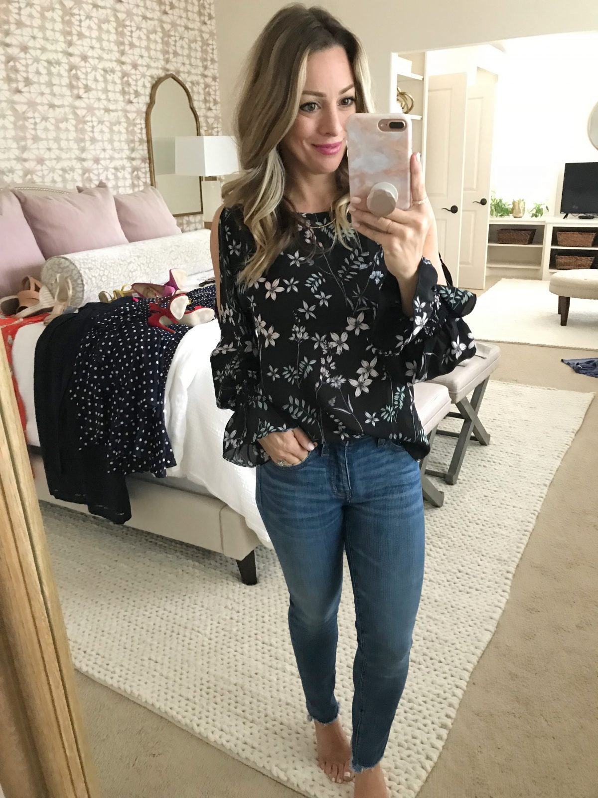 cute floral summer blouse