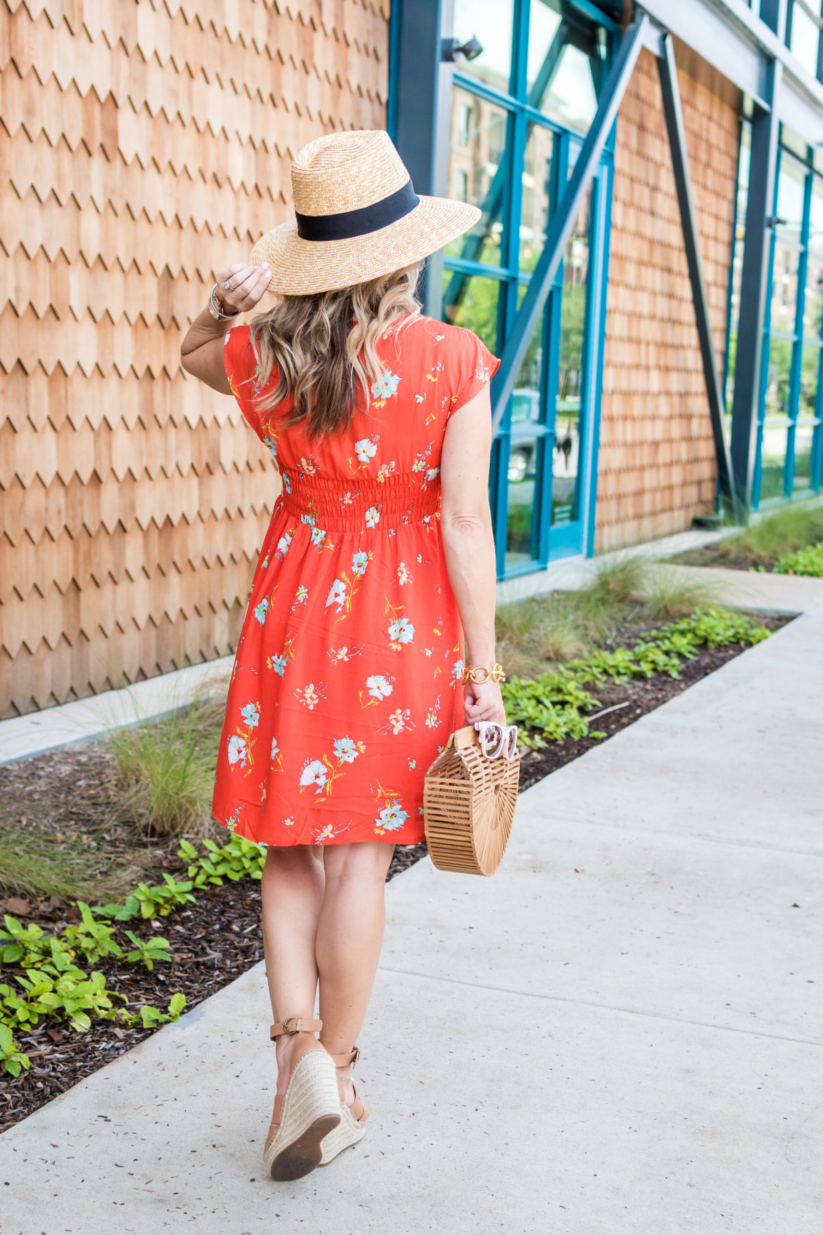 Cute summer dress and straw hat (1)