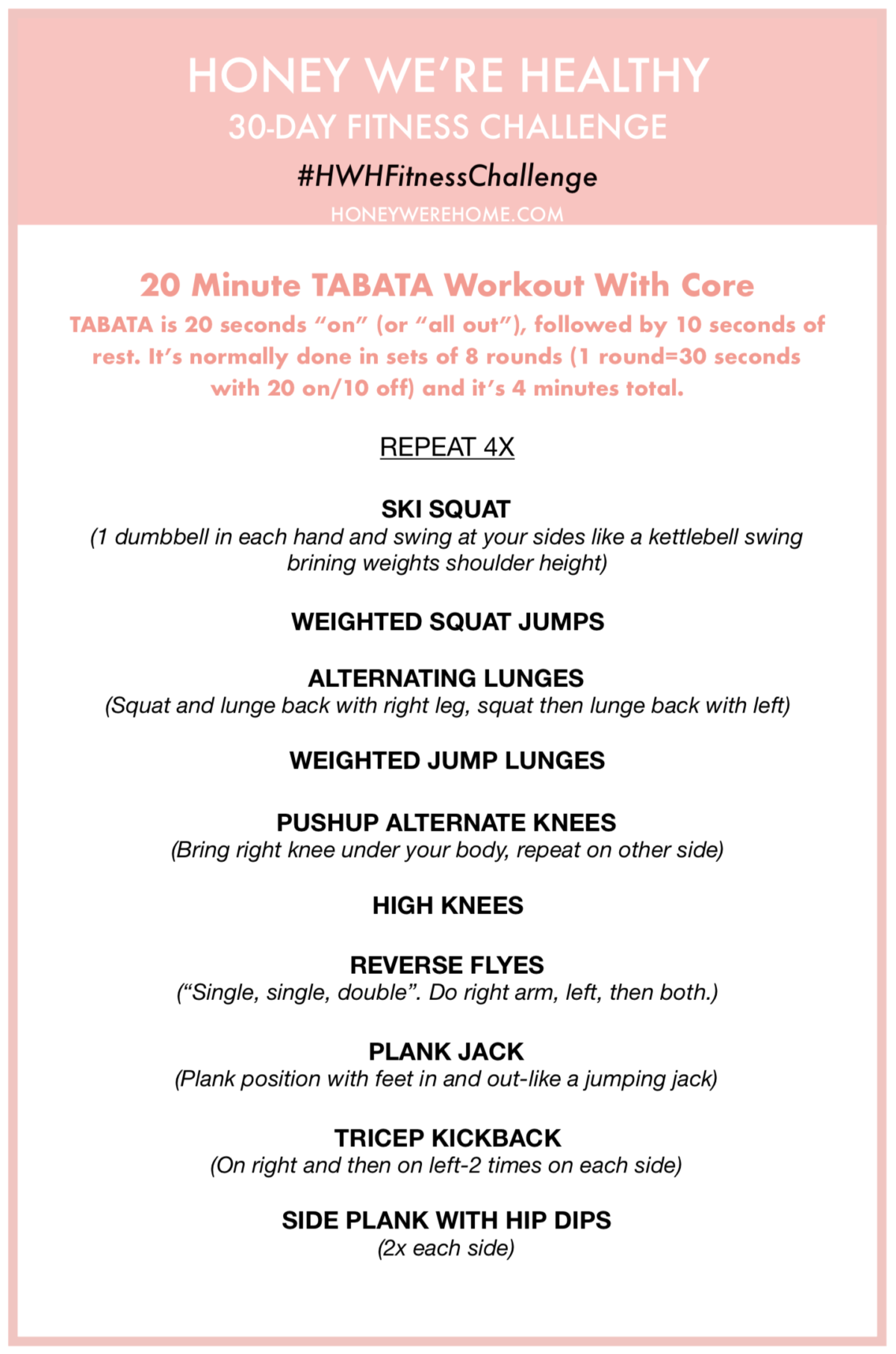how to plan your exercise routine 30 day fitness challenge tabata workout