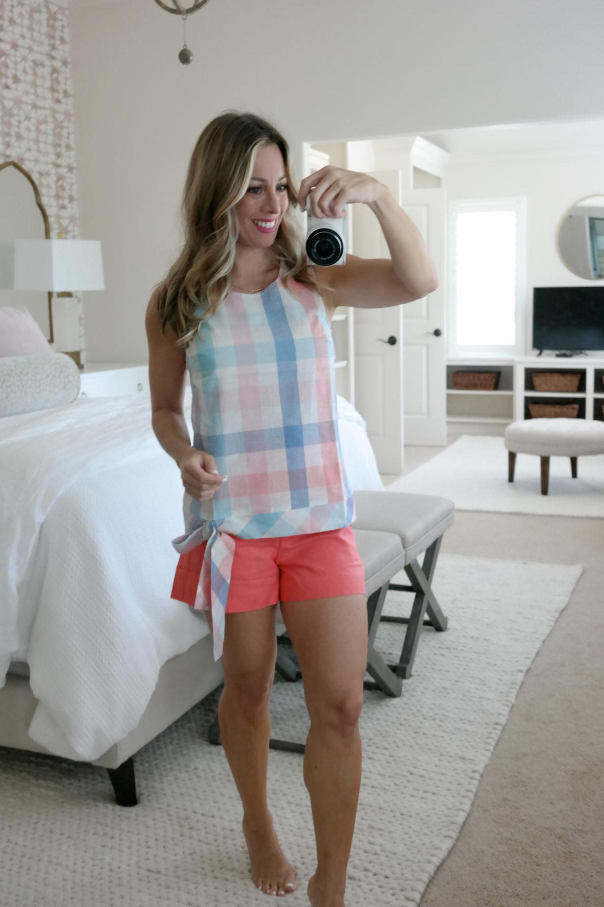 summer tops and shorts