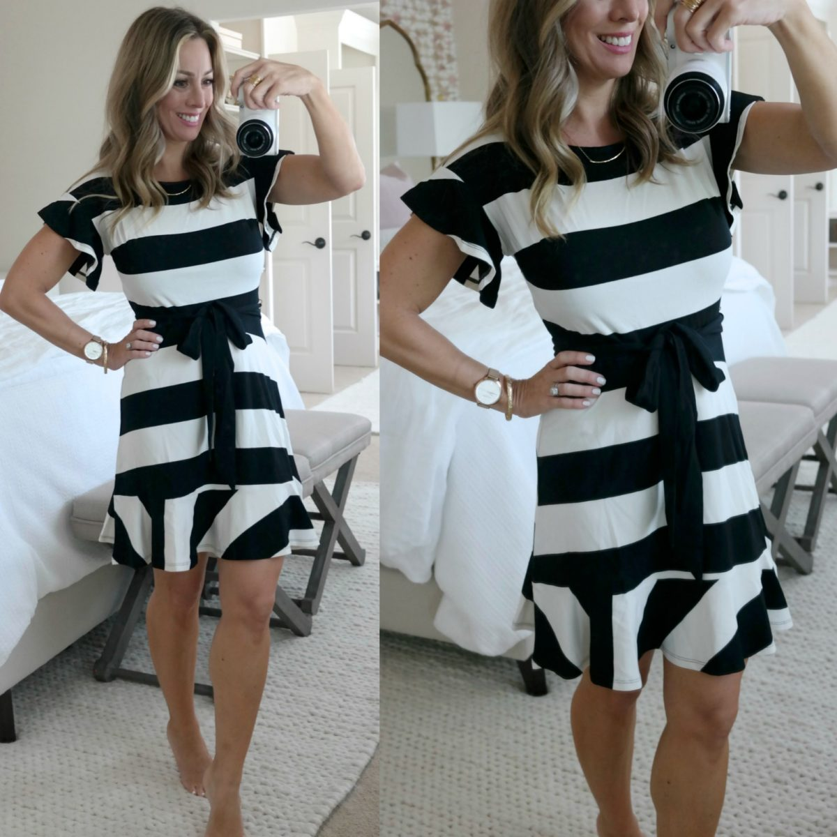 cute summer striped dress