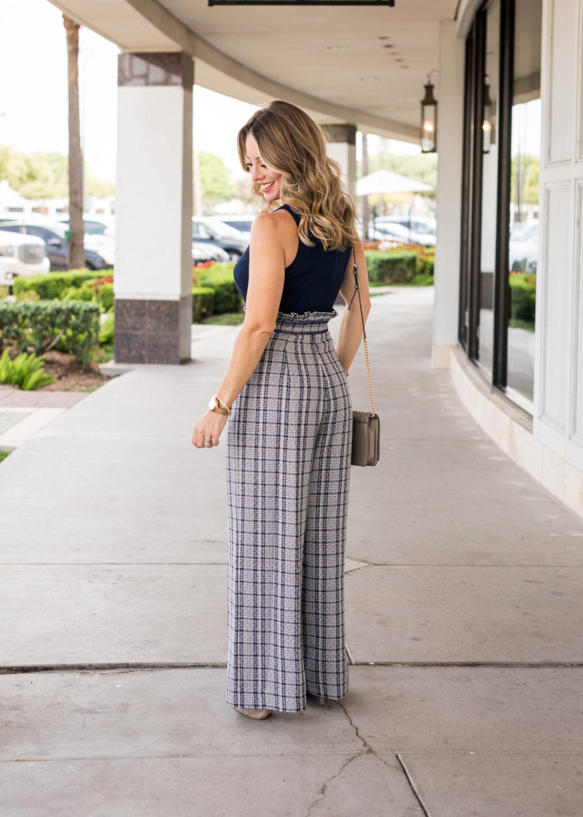 wide leg tweed dressy jumpsuits