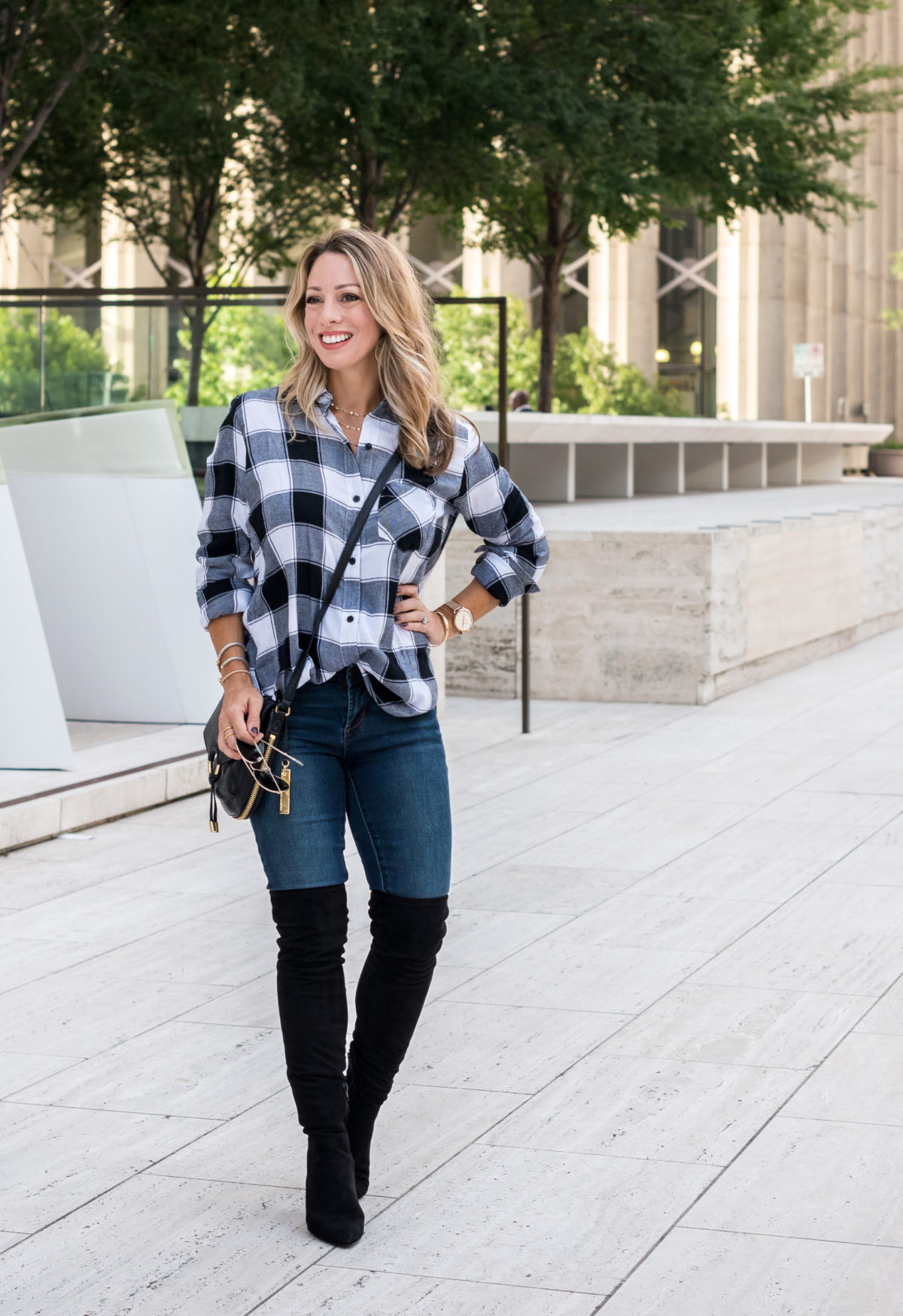 Summer to Fall Outfits over the knee boots