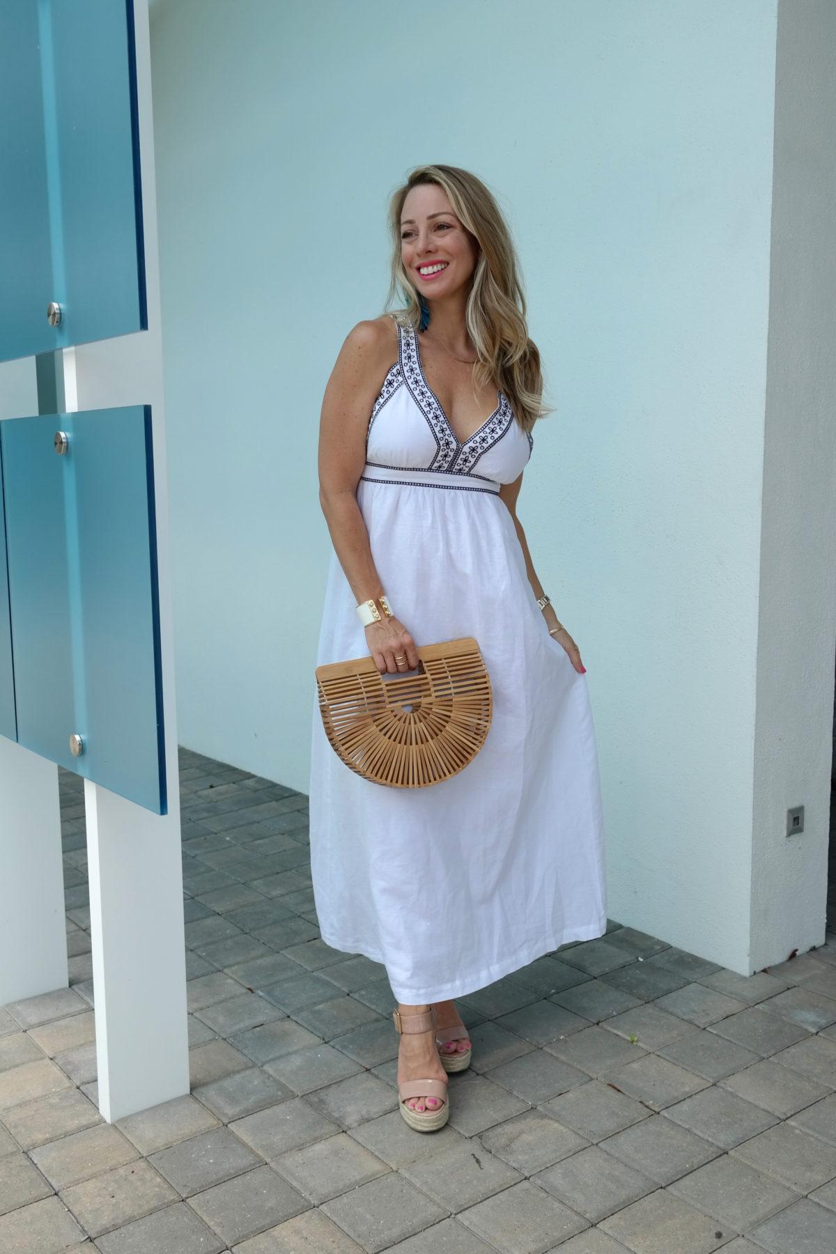 Cute Summer white maxi dress