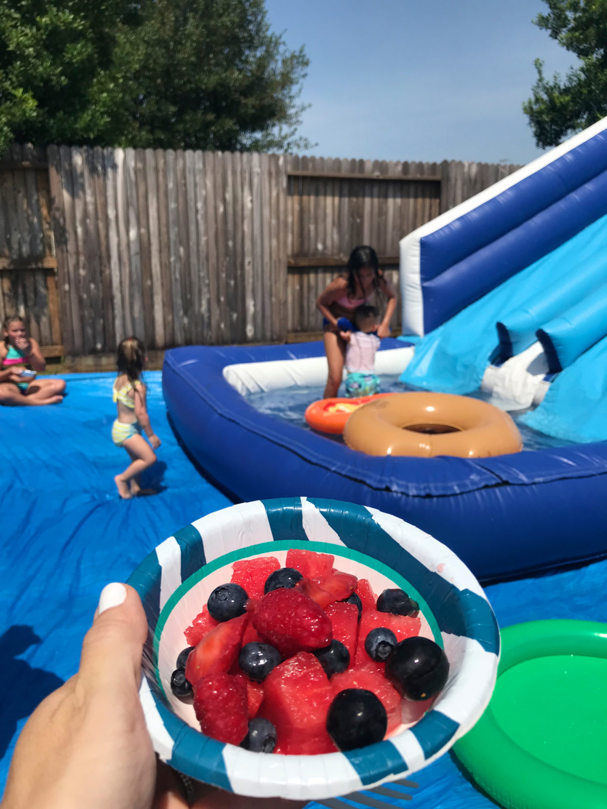 summer pool party fruit salad