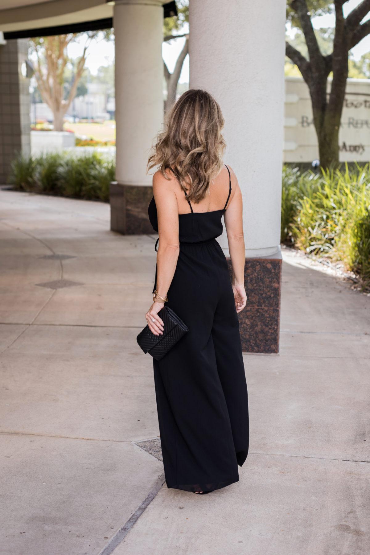black dressy jumpsuit