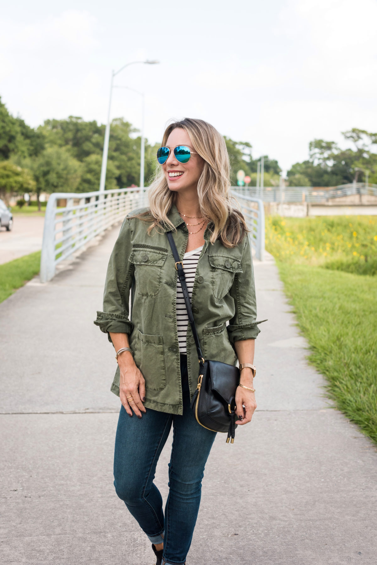 Summer to Fall Outfits military jacket