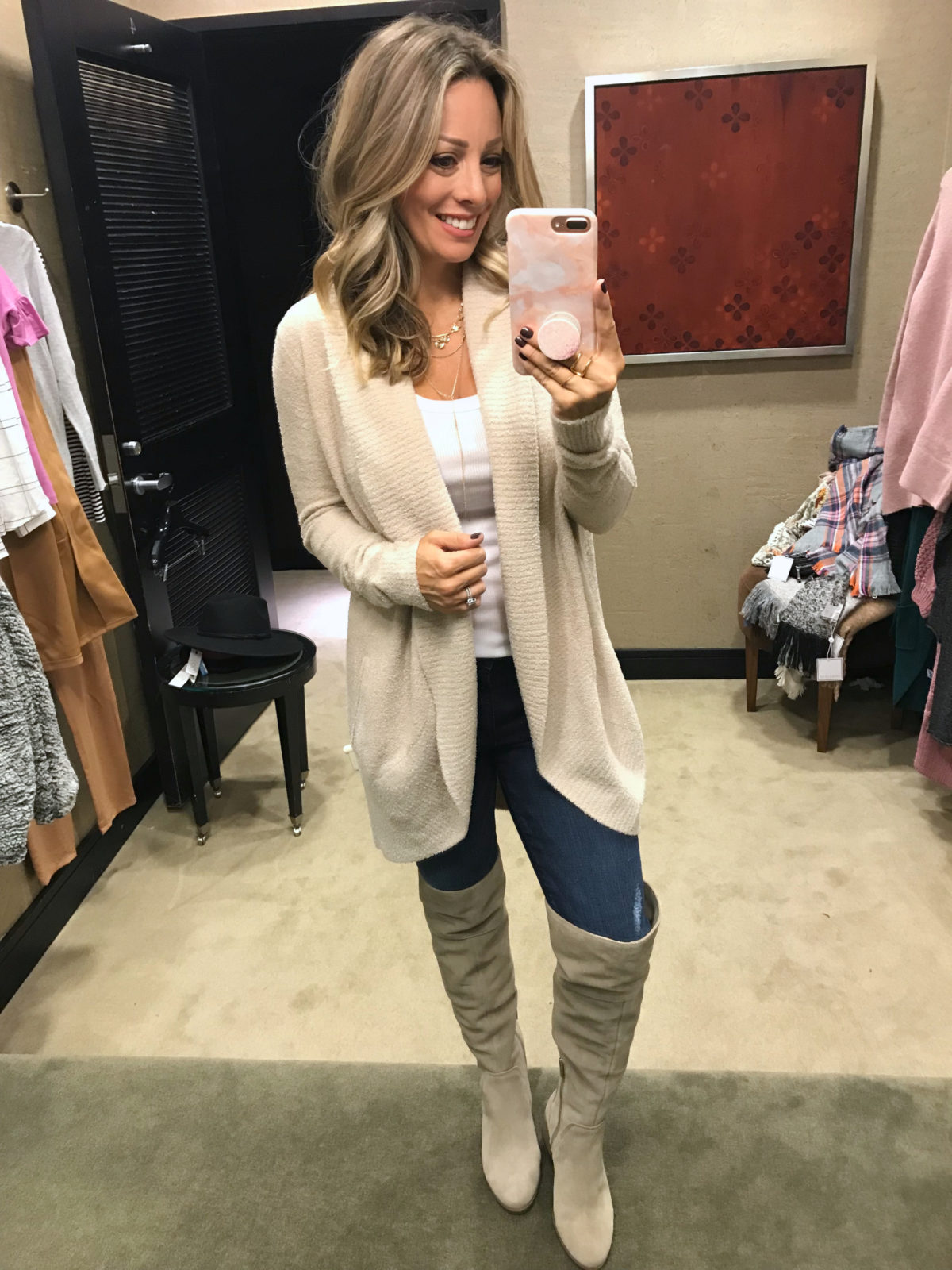 2018 nordstrom anniversary sale try on haul barefoot dreams cardigan