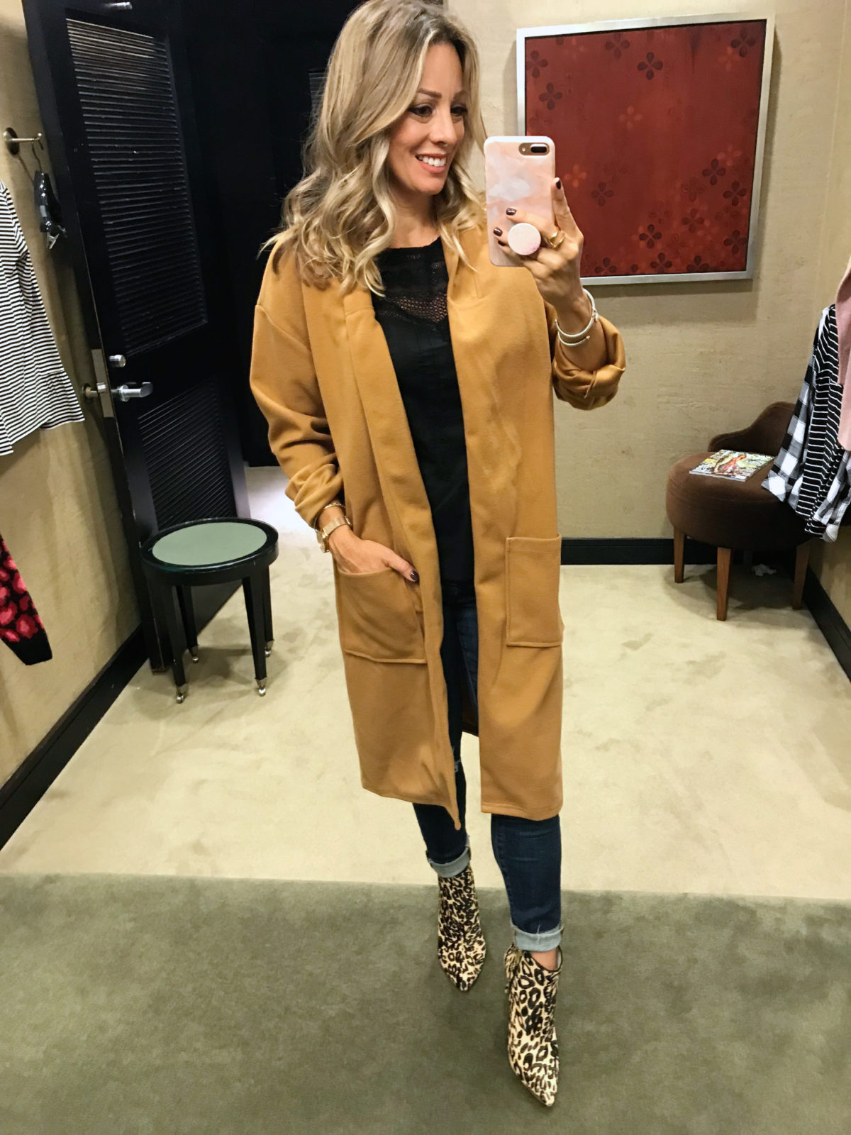 Nordstrom Anniversary Sale try-on midi coat