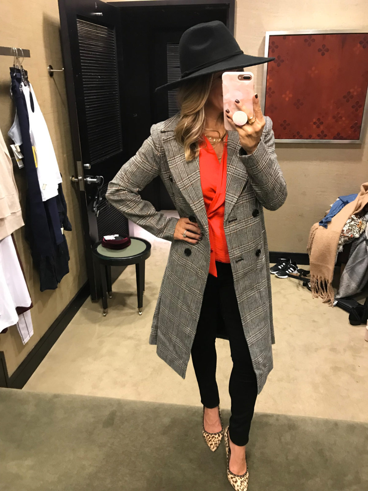 2018 nordstrom anniversary sale plaid coat try on haul
