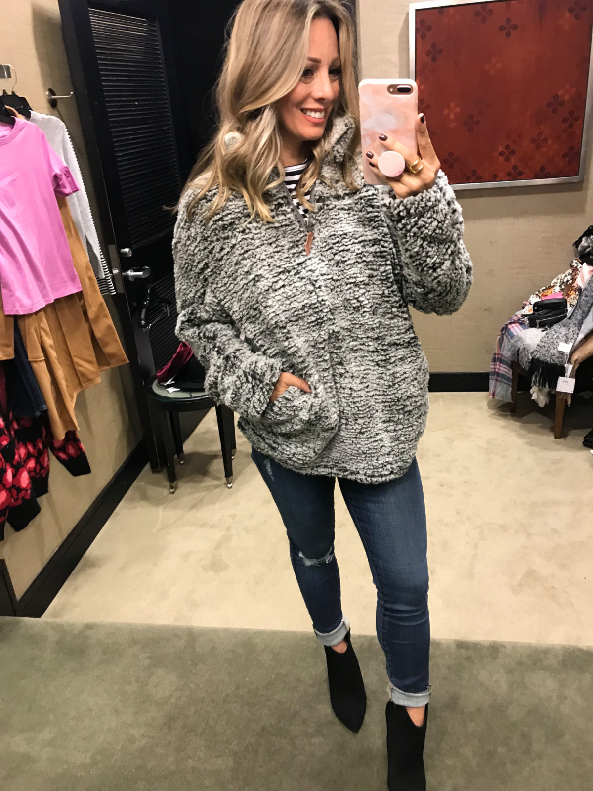 2018 nordstrom anniversary sale teddy pullover try on haul