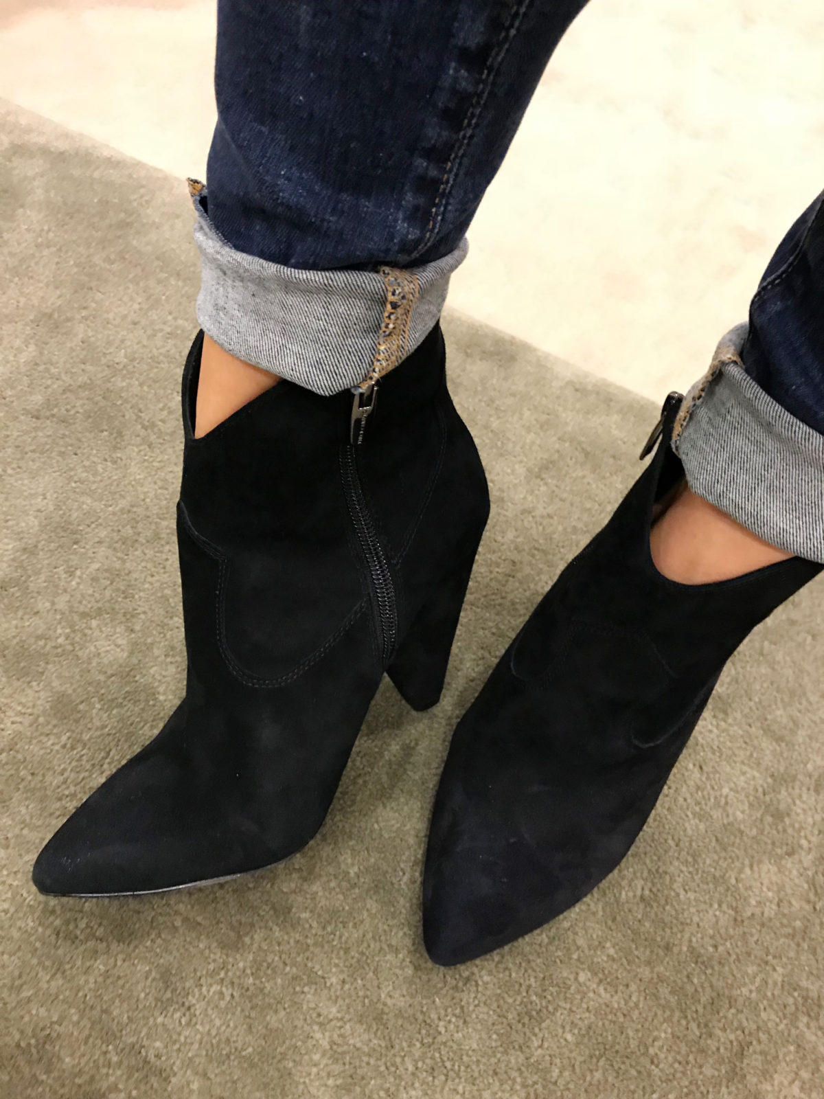 2018 nordstrom anniversary sale suede booties try on haul