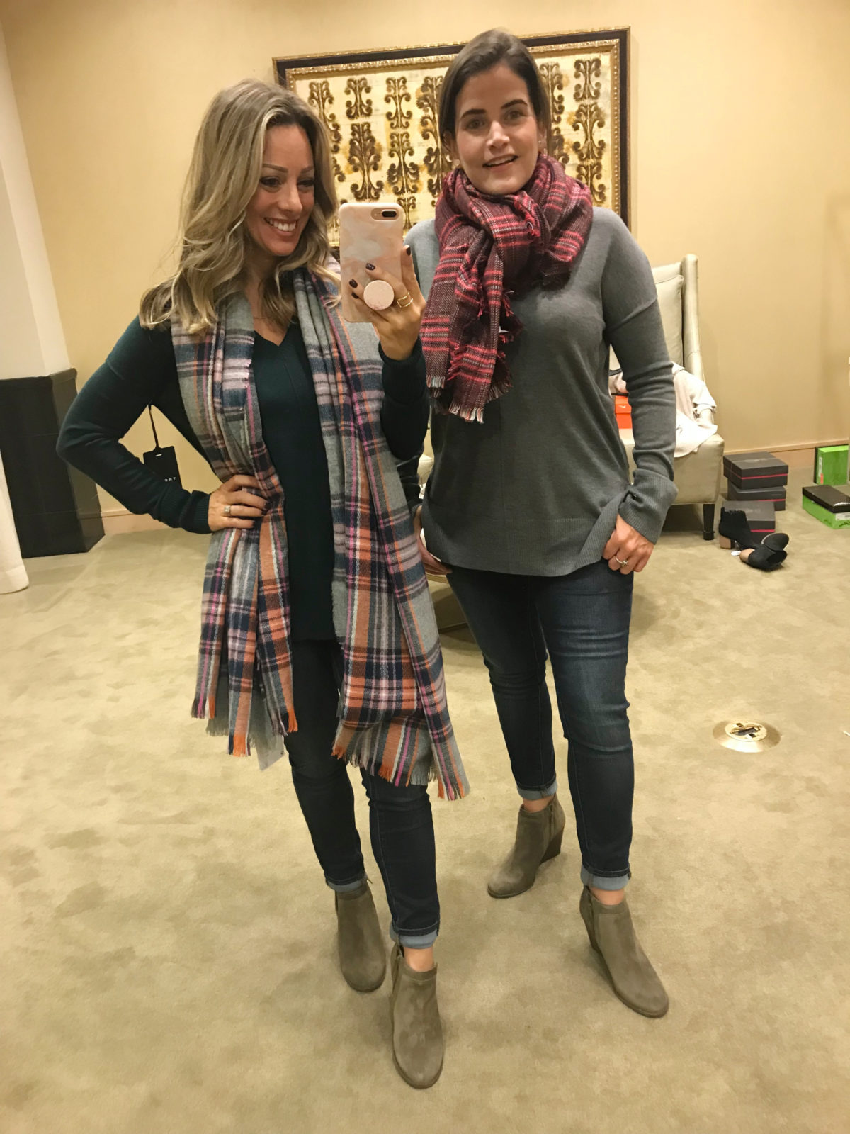 Nordstrom Anniversary Sale try-on plaid scarf