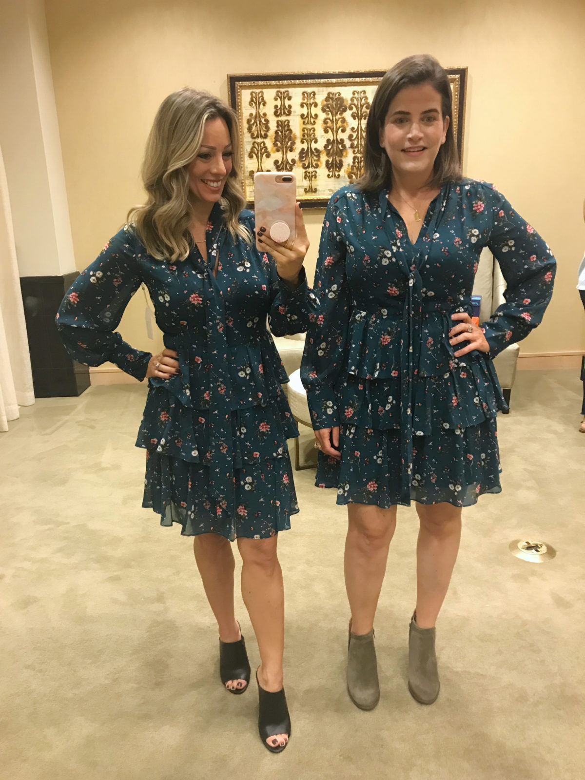 Nordstrom Anniversary Sale try-on tiered floral dress