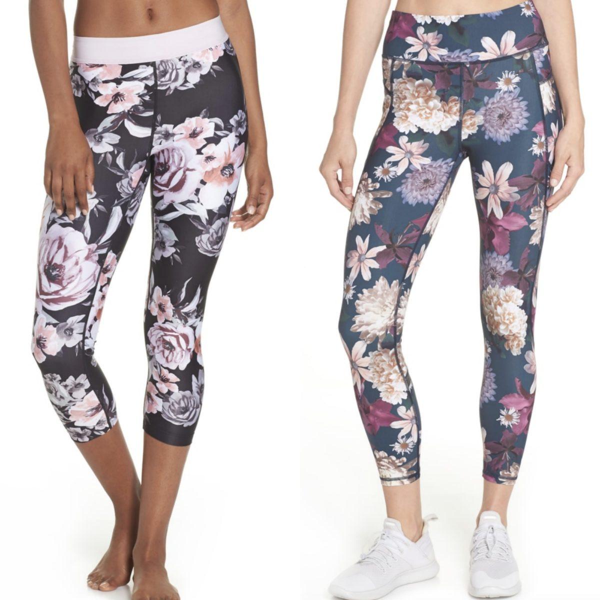 Nordstrom Anniversary Sale activewear floral leggings