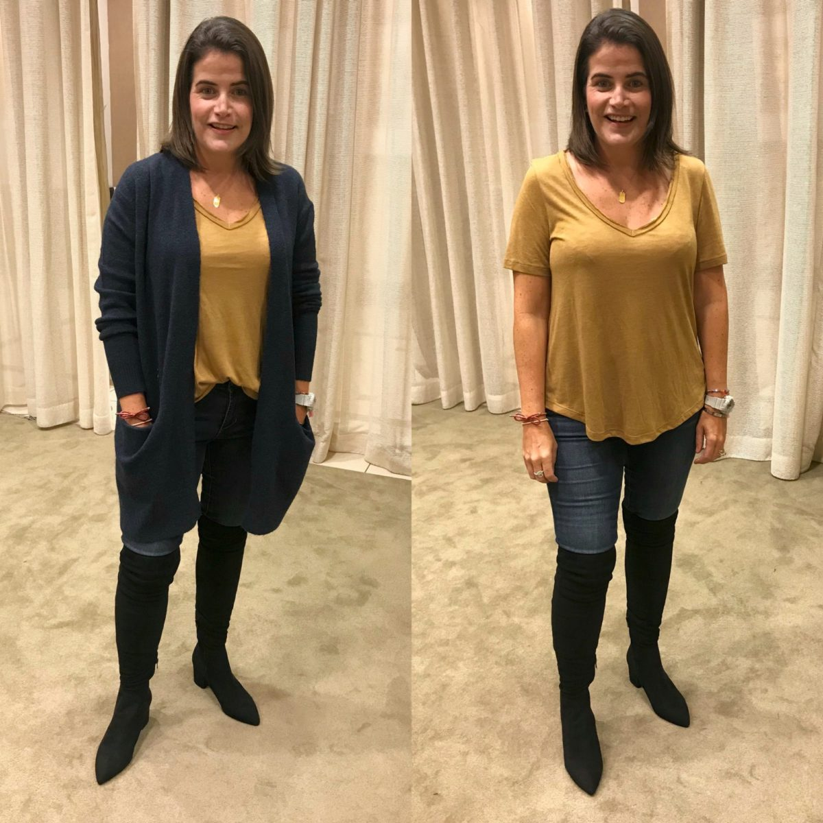Nordstrom Anniversary Sale try-on over the knee boots