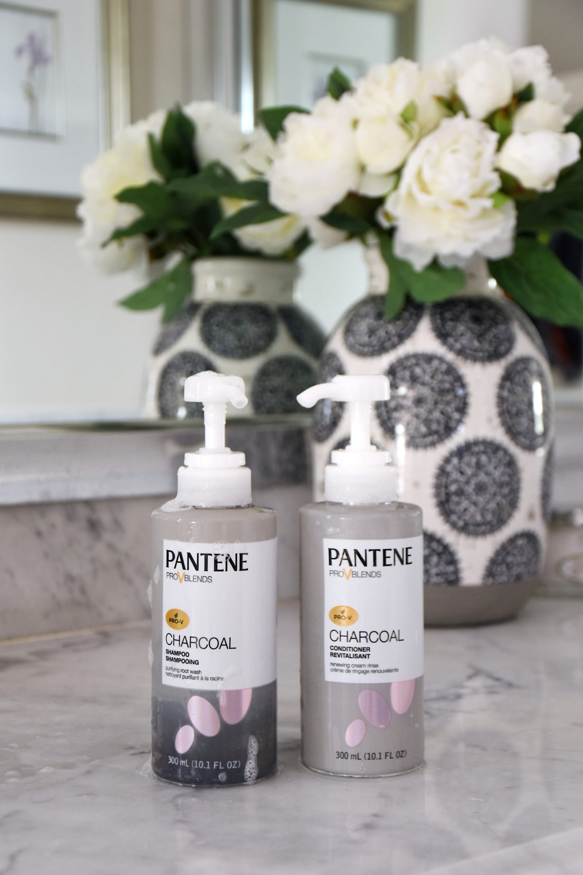 Pantene Charcoal shampoo and conditioner