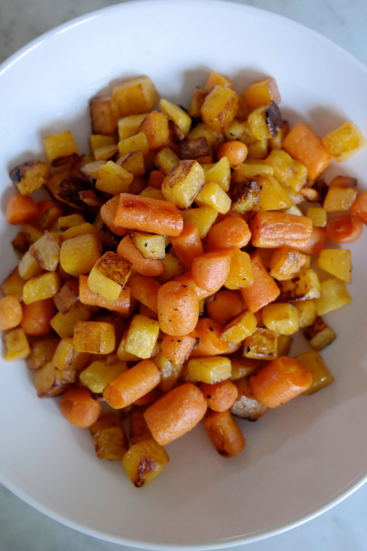 what i eat in a week Roasted carrots and butternut squash