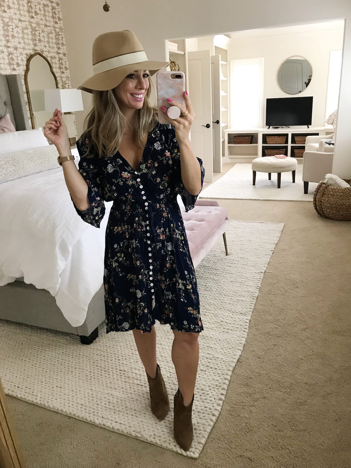 amazon clothing haul floral boho dress