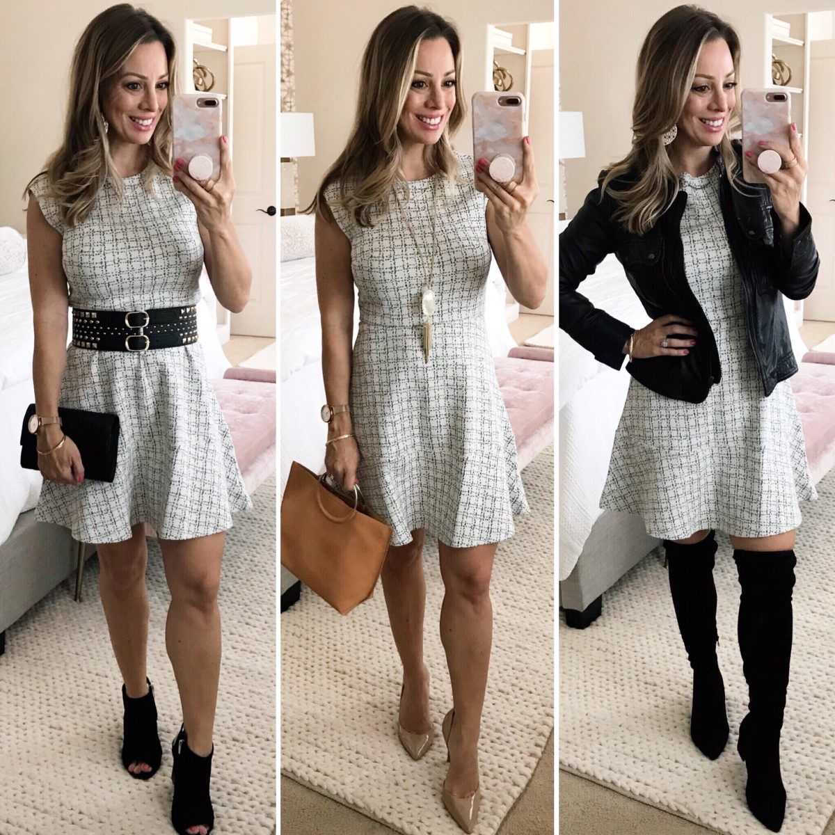 transitional fall fashion Dress 3 Ways