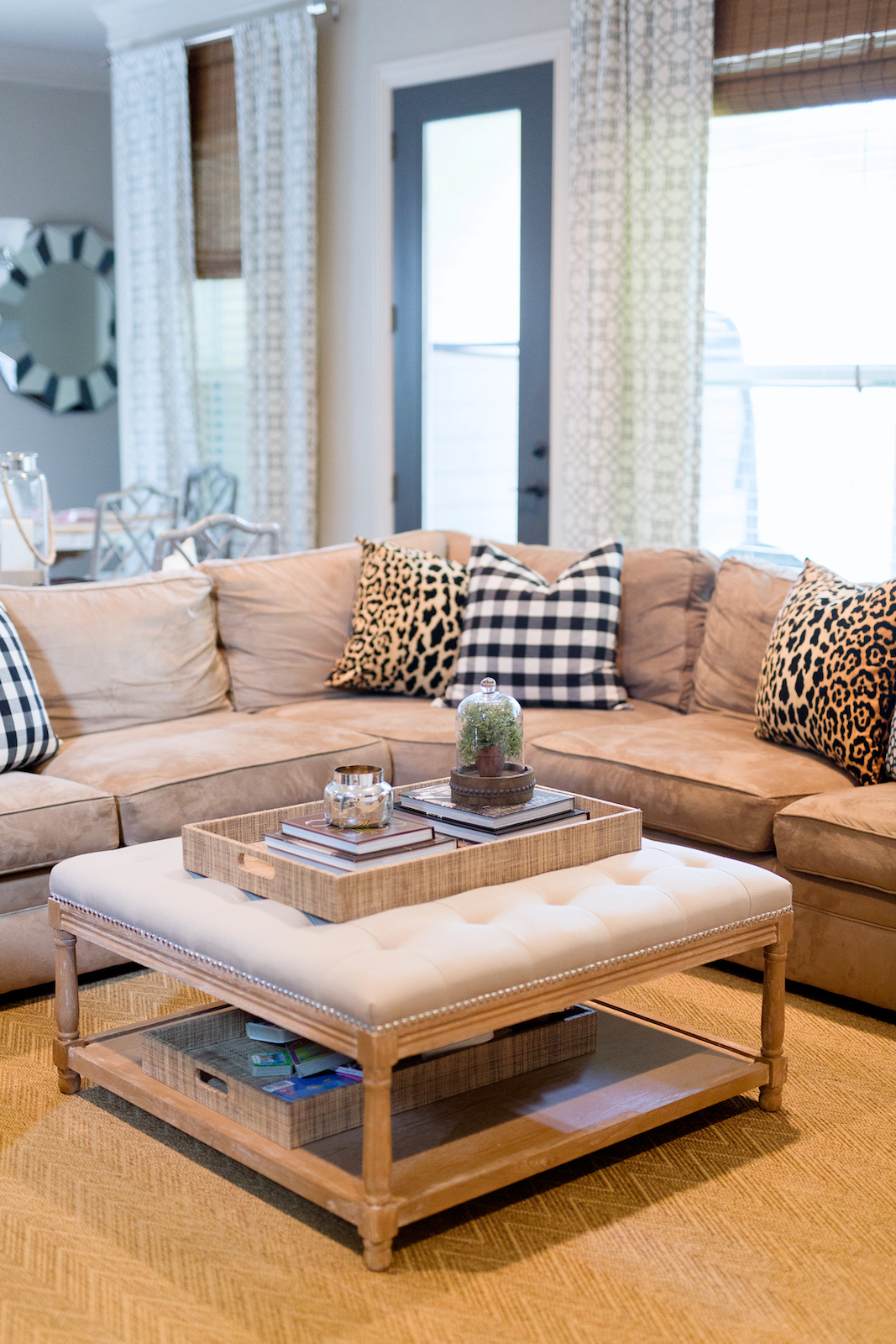 how to style a coffee table ottoman