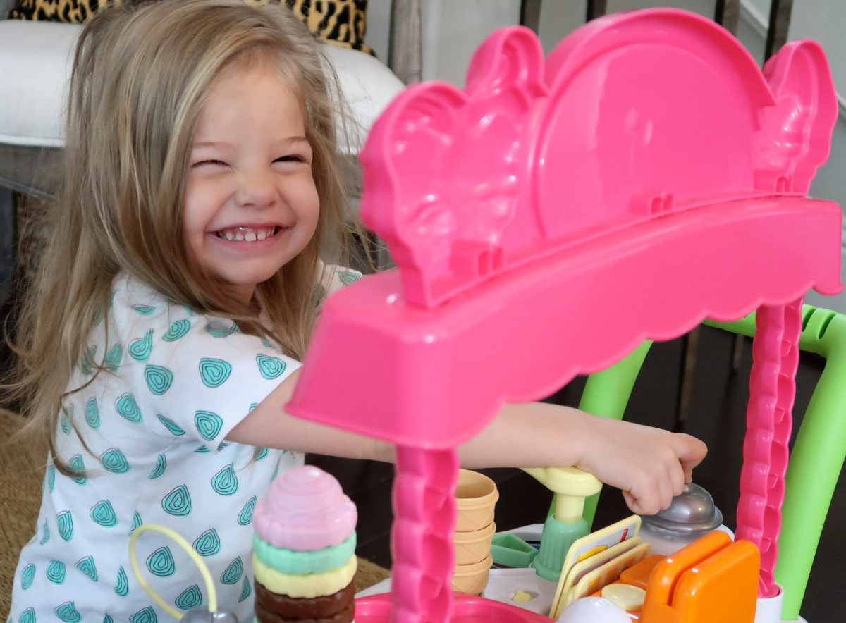 Toddler ice cream cart