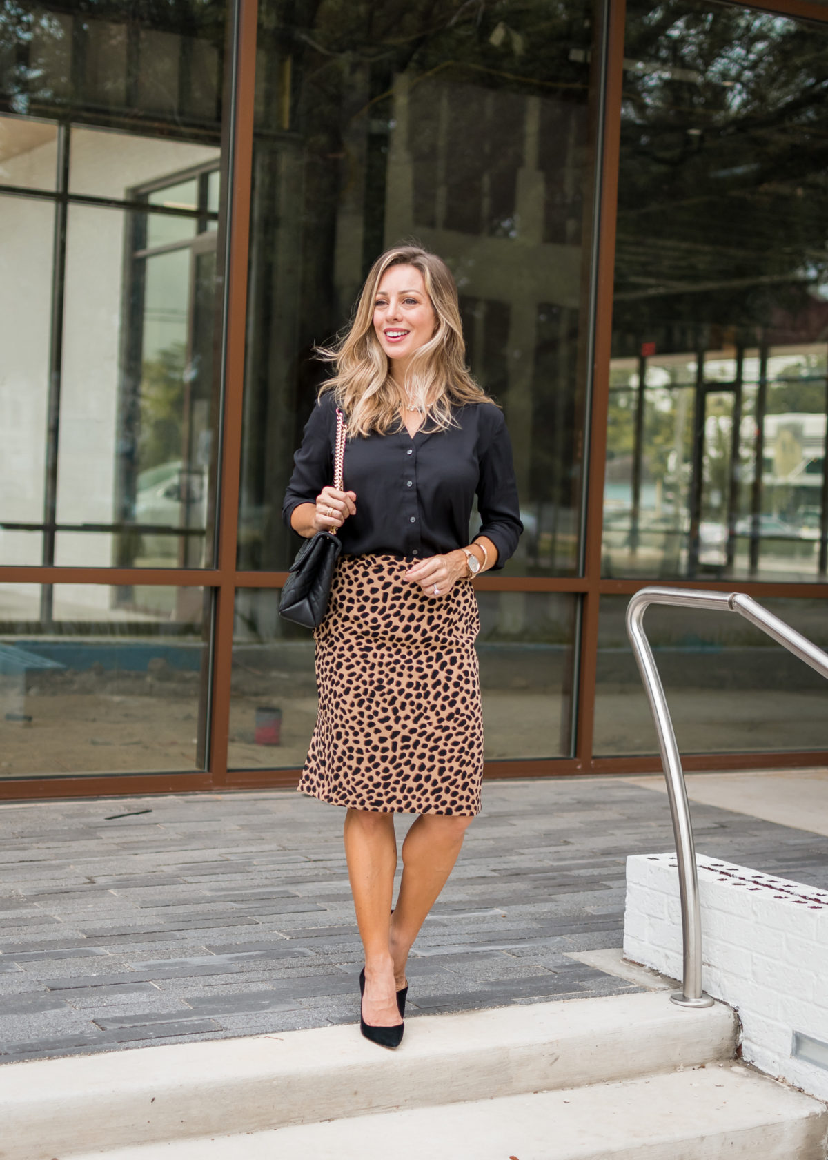 Three Fabulous Work Outfits with a Pop of Leopard