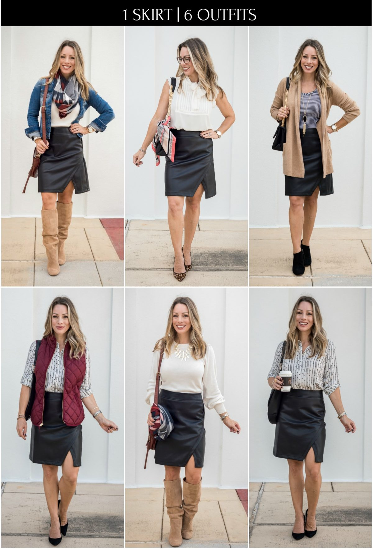 1 Skirt & 6 Outfits
