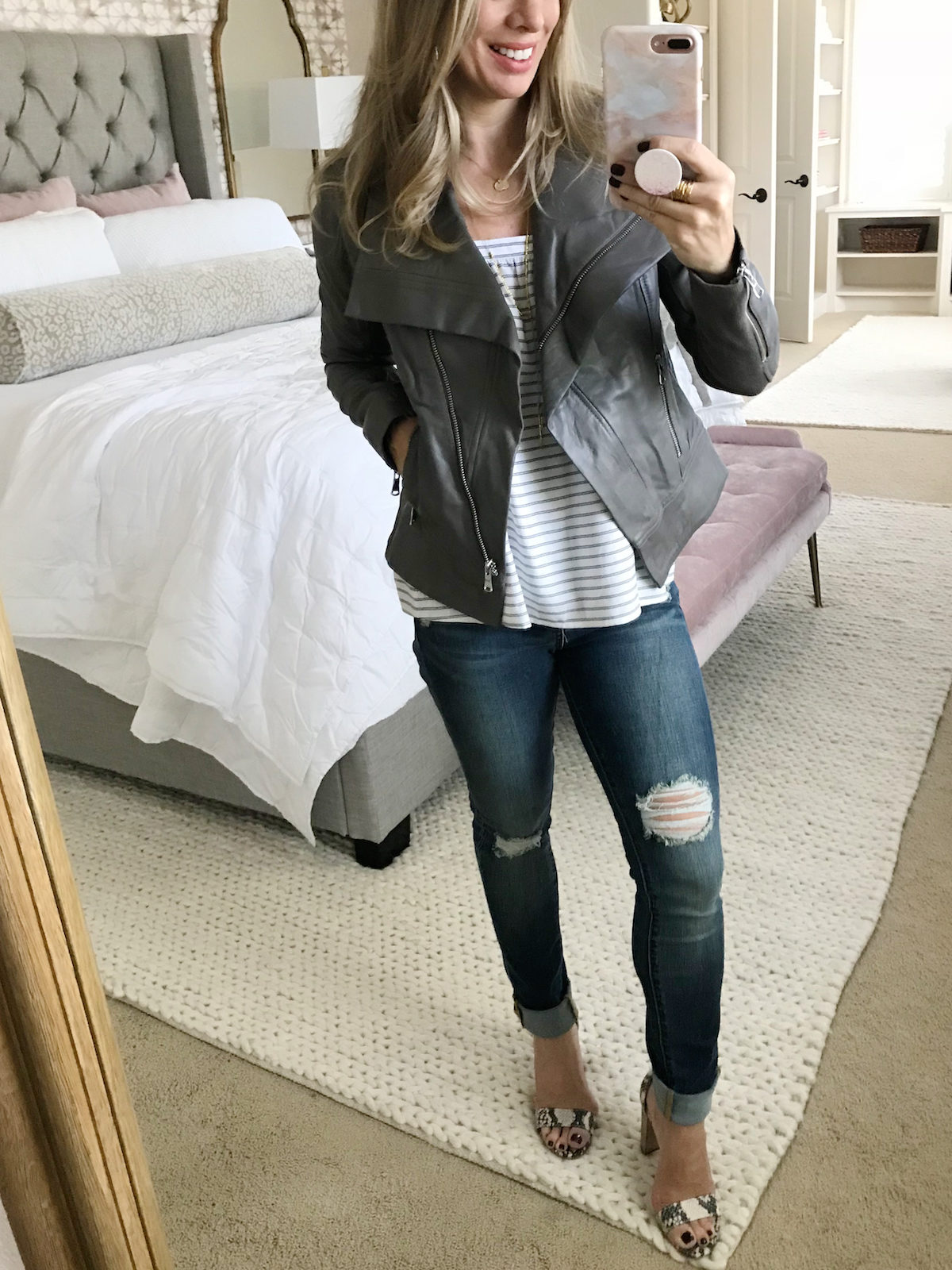fall denim outfits