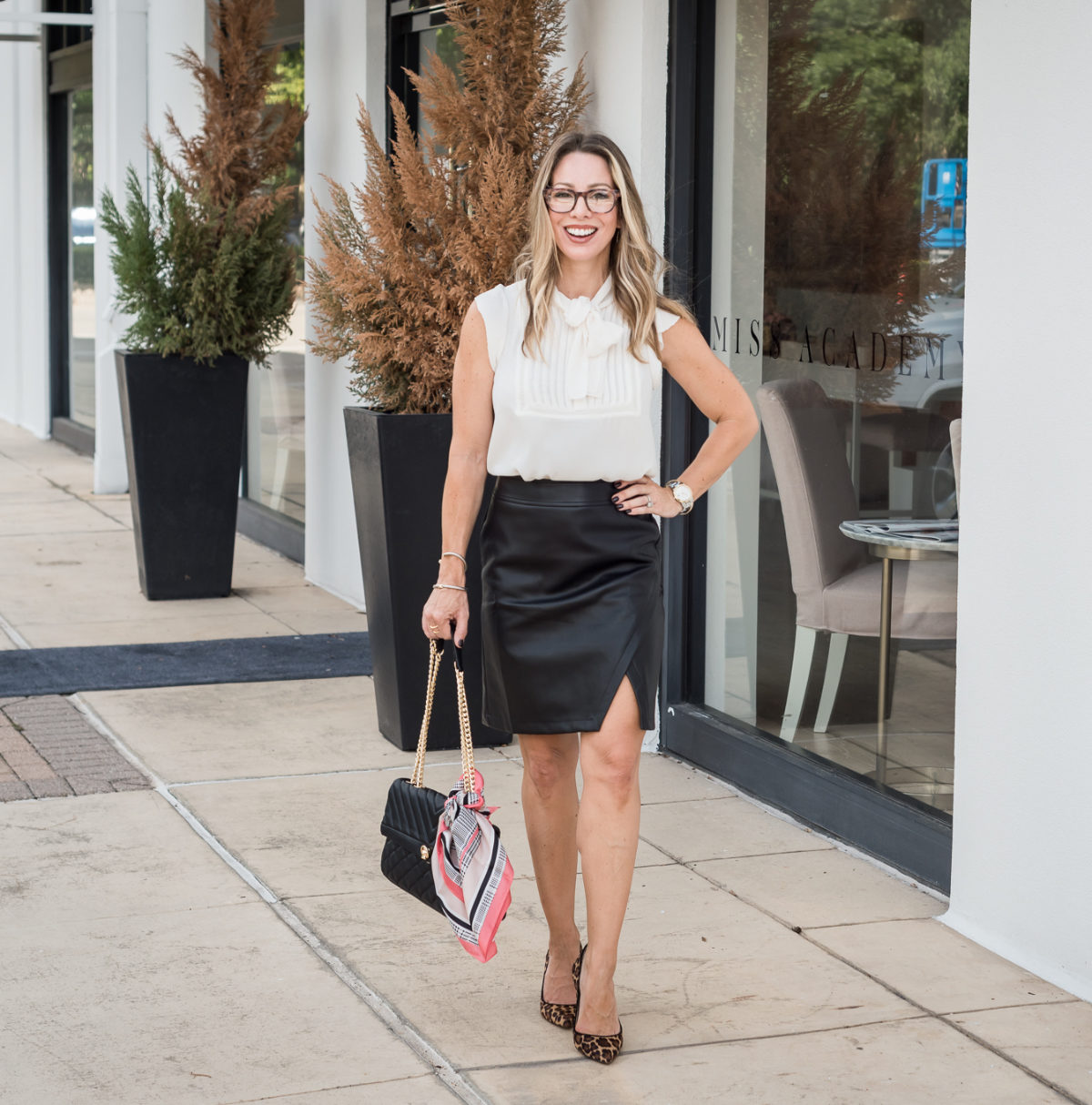 6 black leather skirt outfit ideas for fall  honey we're home