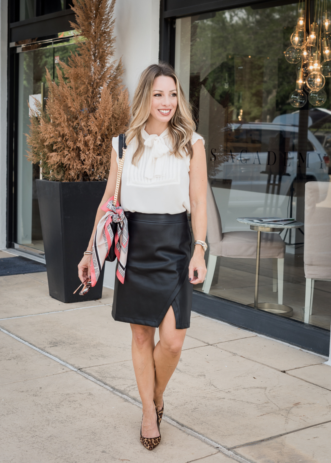 6 Black Leather Skirt Outfit Ideas For Fall Honey We Re Home