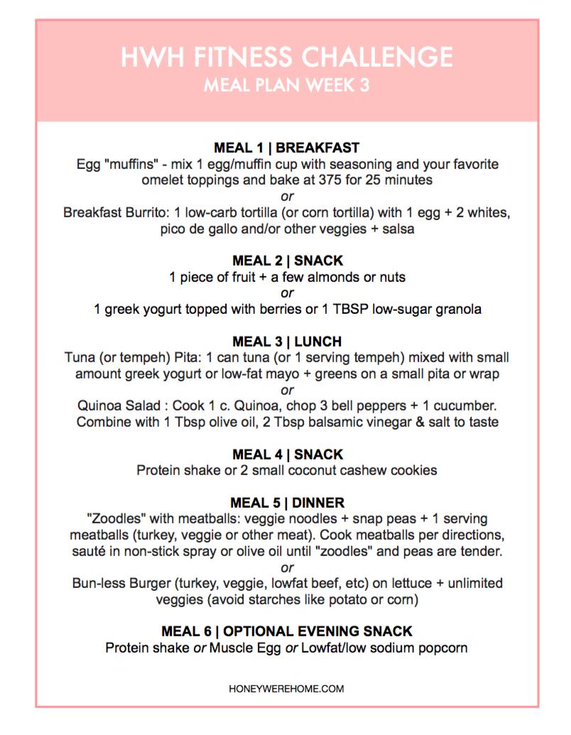 HWHFitness Meal Plan 3