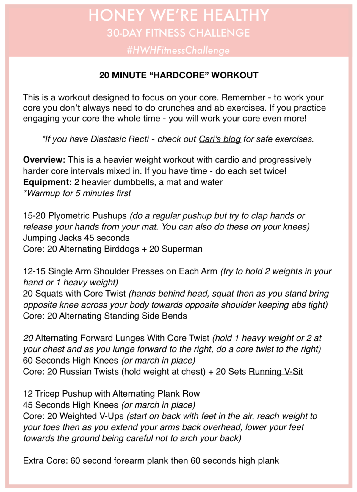 20 minute core workout