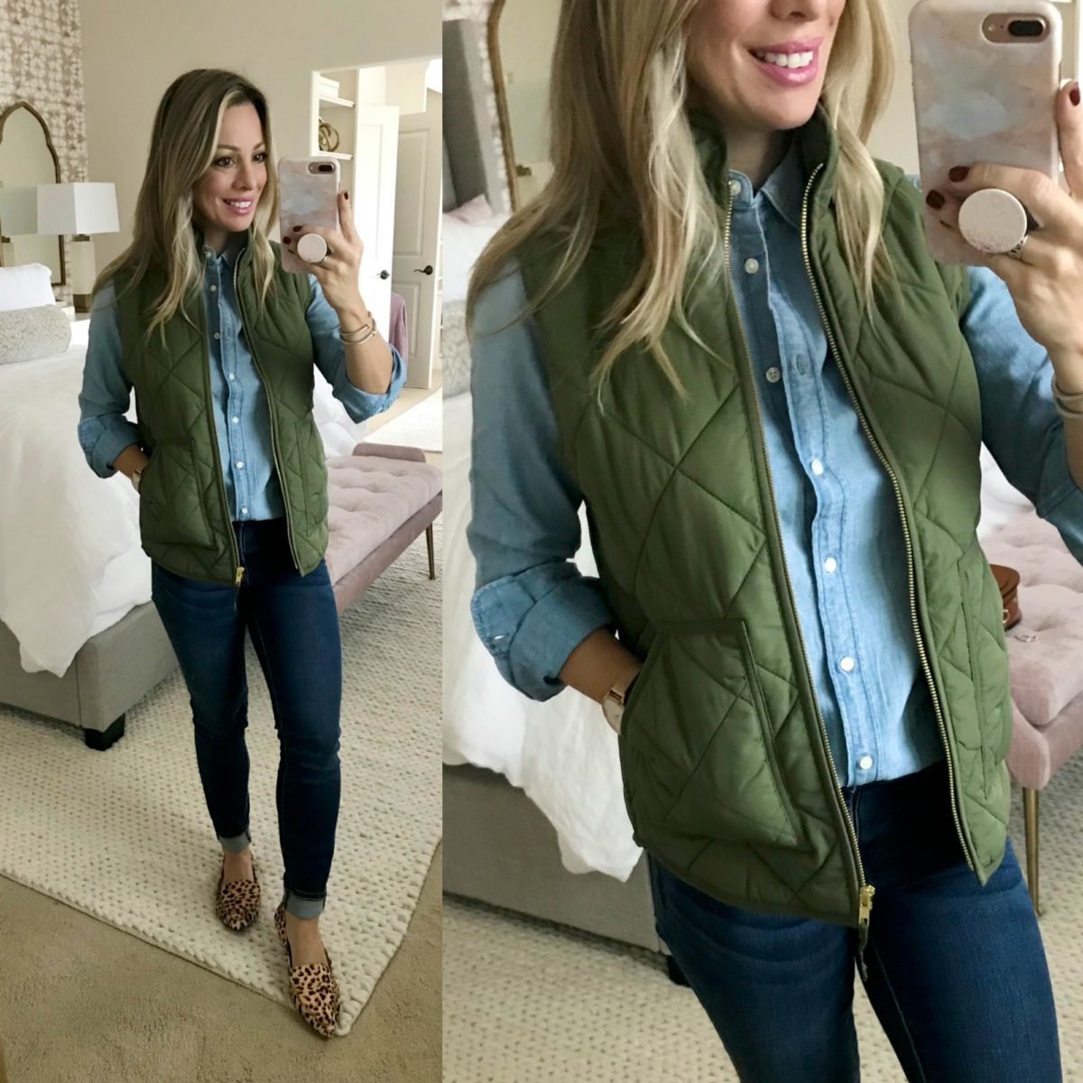 Amazon Fashion Haul J Crew puffer vest
