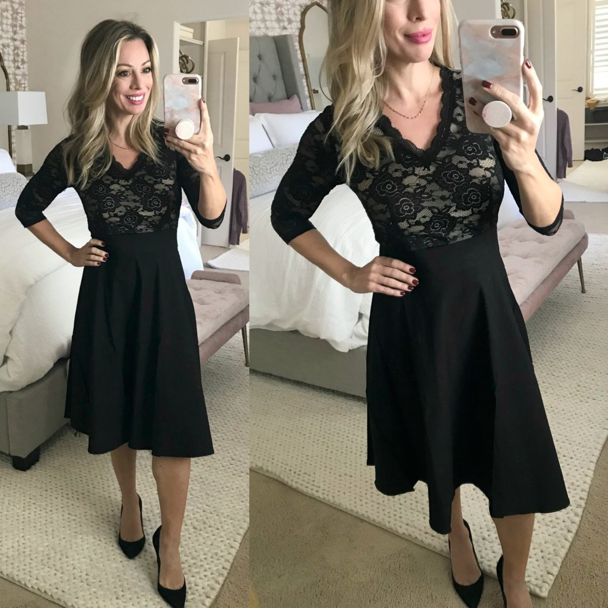 Amazon Fashion Haul - black lace dress