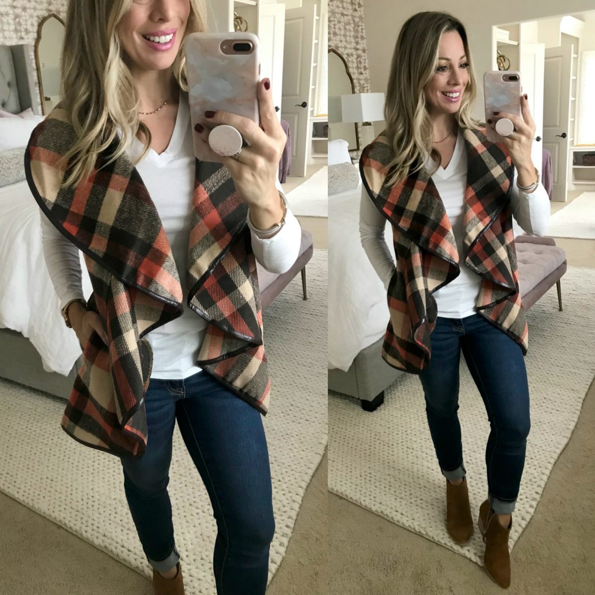 Amazon Fashion Haul plaid vest