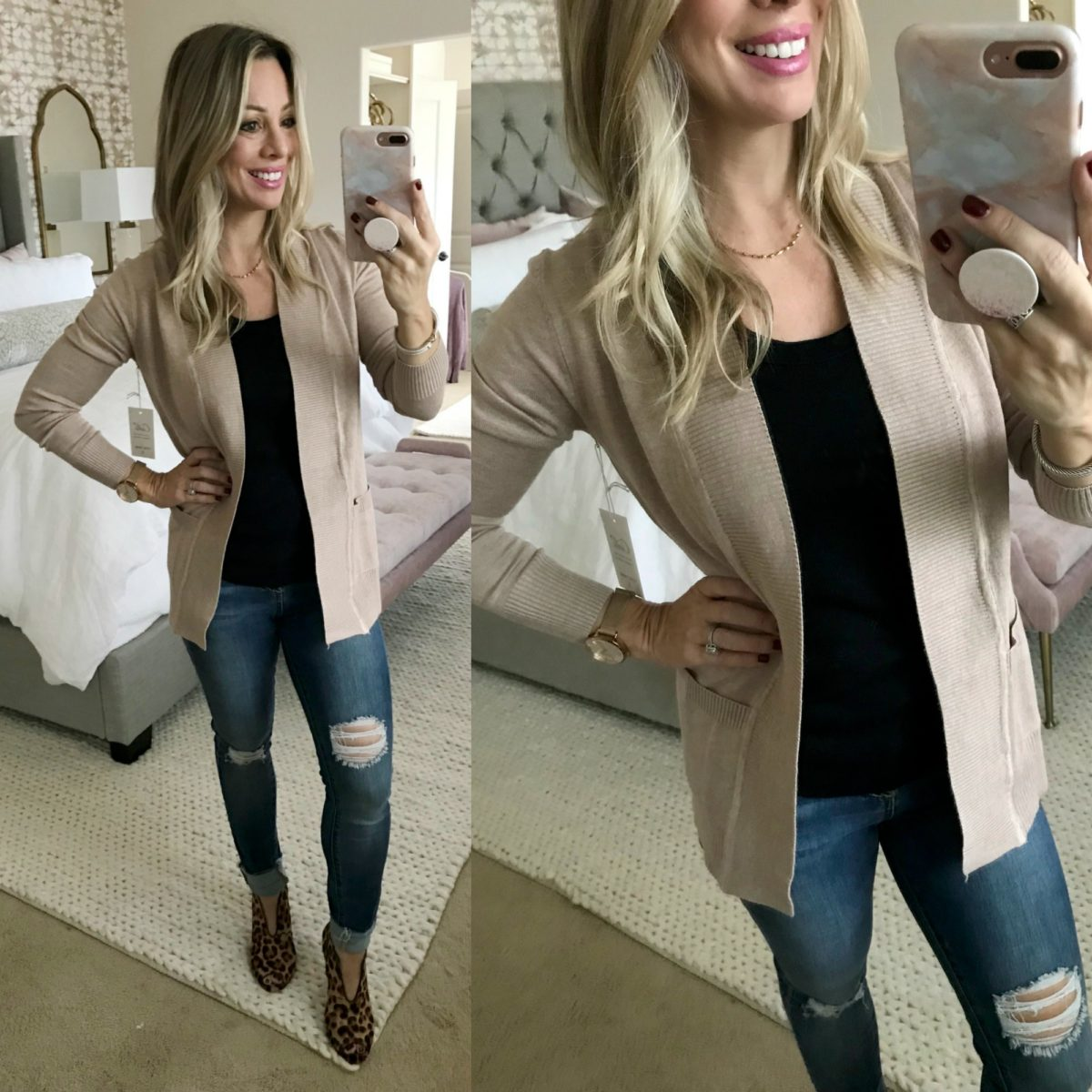 Amazon fashion haul cardigan and jeans