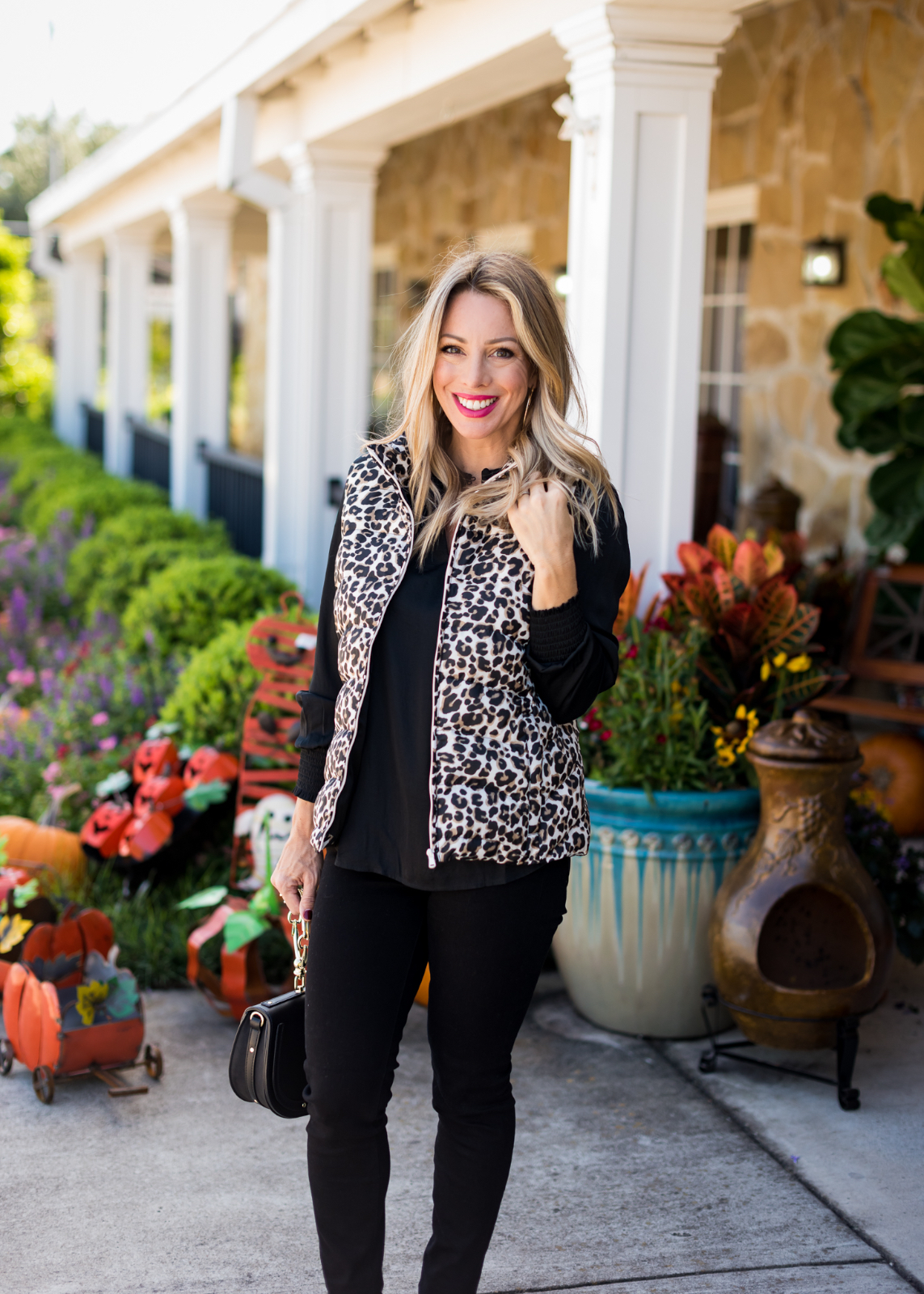 Cute Fall Outfit w Leopard Vest.1