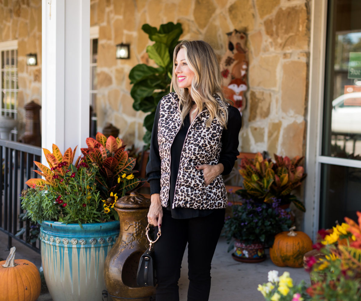 Cute Fall Outfit w Leopard Vest.3