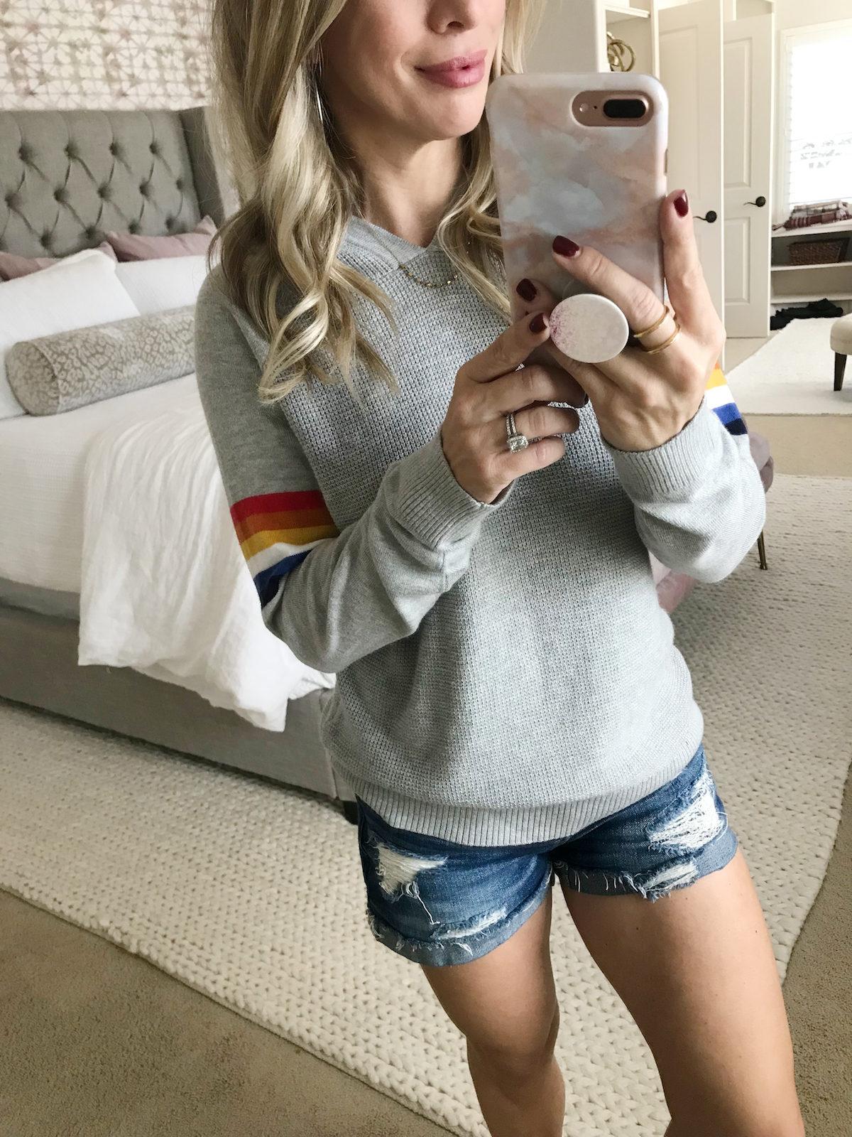 Grey rainbow hoodie