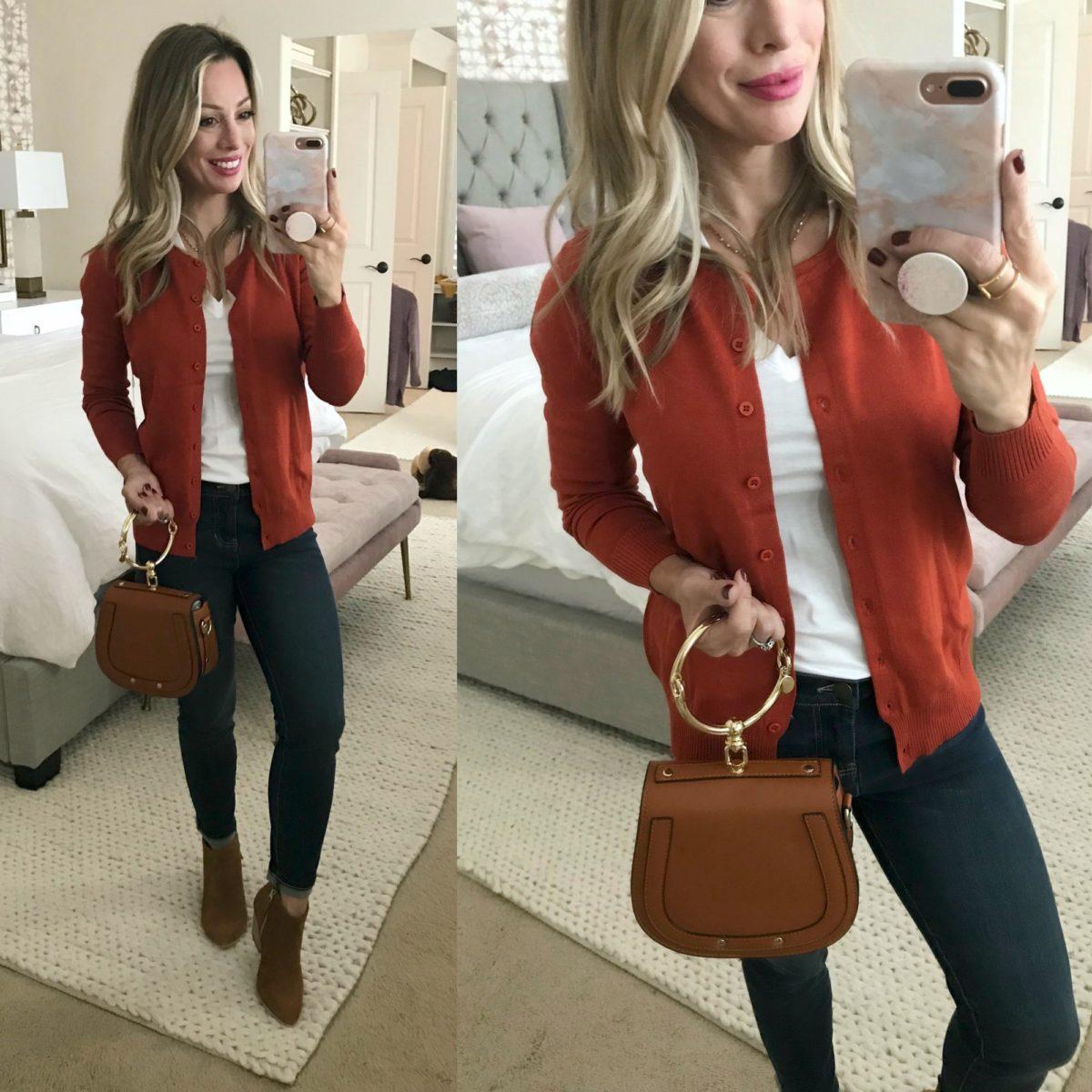 60a187a5d0 Amazon Fashion Haul Orange cardigan ...